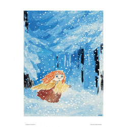 Moomin Poster Miffle in the Winter Forest 24 x 30 cm