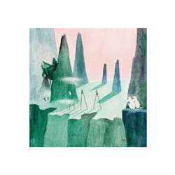 Moomin Tove 100 Greeting Card with Envelope Comet Chase