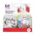 Emil Christmas Decorative Tin Baubles Set of 2 Martinex
