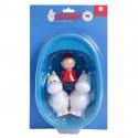 Moomin Bathtub Set 3 Figures with Bathtub