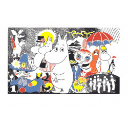 Moomin Poster Moomintroll 1 Tove Jansson 24 x 30 cm