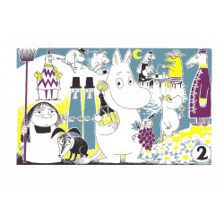 Moomin Poster Moomintroll 2 Tove Jansson 24 x 30 cm