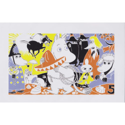 Moomin Poster Moomintroll 5 Tove Jansson 24 x 30 cm
