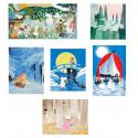Moomin Tove 100 Postcard Set 5 Normal plus 1 Panoramic Putinki