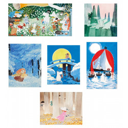 Moomin Tove 100 Years Anniversary Set of 6 Postcards Putinki
