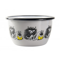 Moomin Enamel Bowl Friends Stinky 0.3 L Muurla