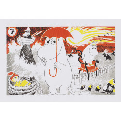 Moomin Poster Moomintroll 7 Tove Jansson 24 x 30 cm