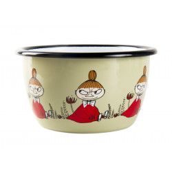 Moomin Enamel Bowl Friends Little My 0.3 L Muurla
