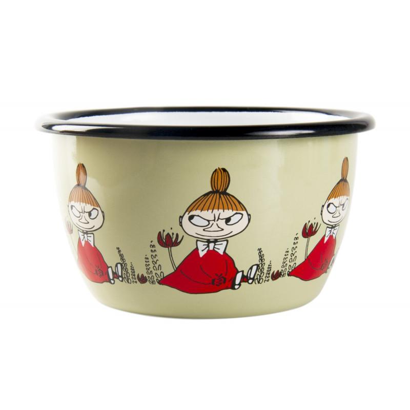 Moomin Enamel Bowl Friends Little My 0.3 L Muurla