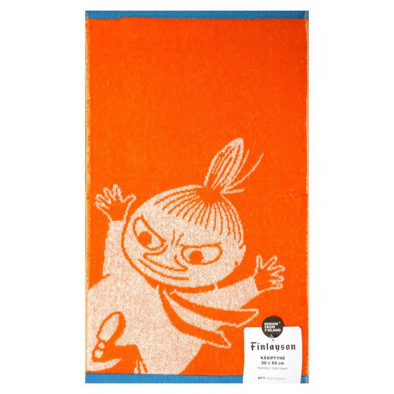 Moomin Hand Terry Towel Little My Orange 30 x 50 cm Finlayson