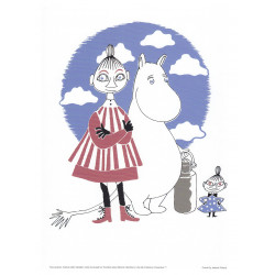 Moomin Poster Mymble & Moomintroll 24 x 30 cm