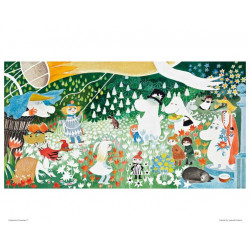 Moomin Poster Party in the Moomin Valley 24 x 30 cm