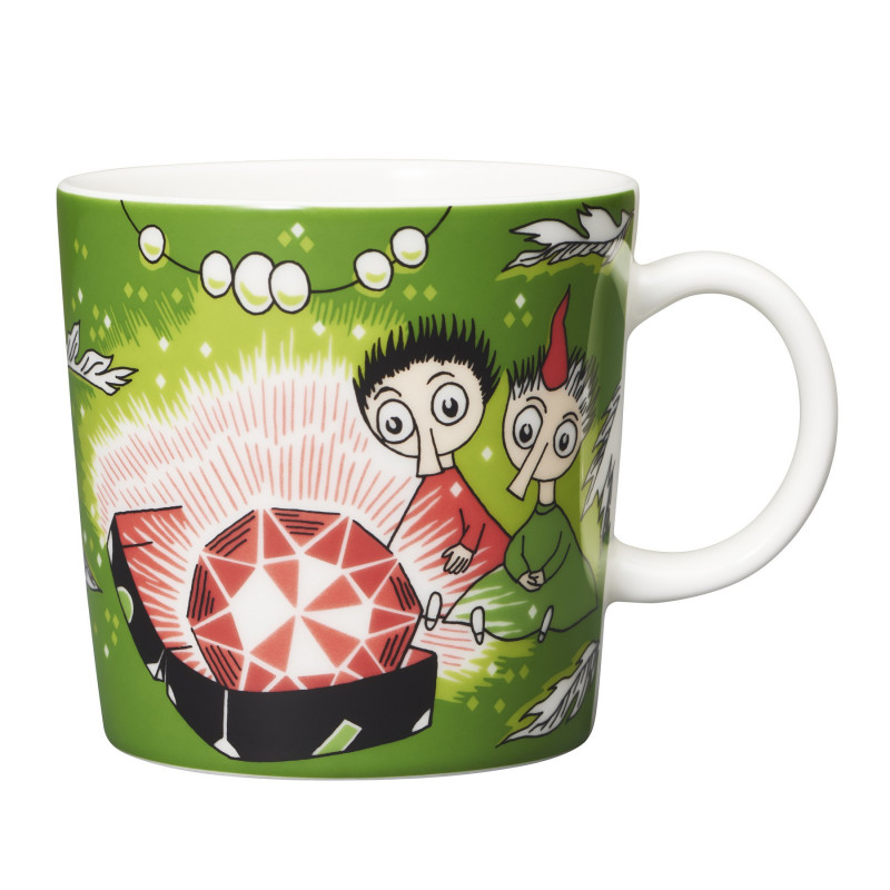 Moomin Mug Thingumy and Bob and The King's Ruby Green Arabia 2018