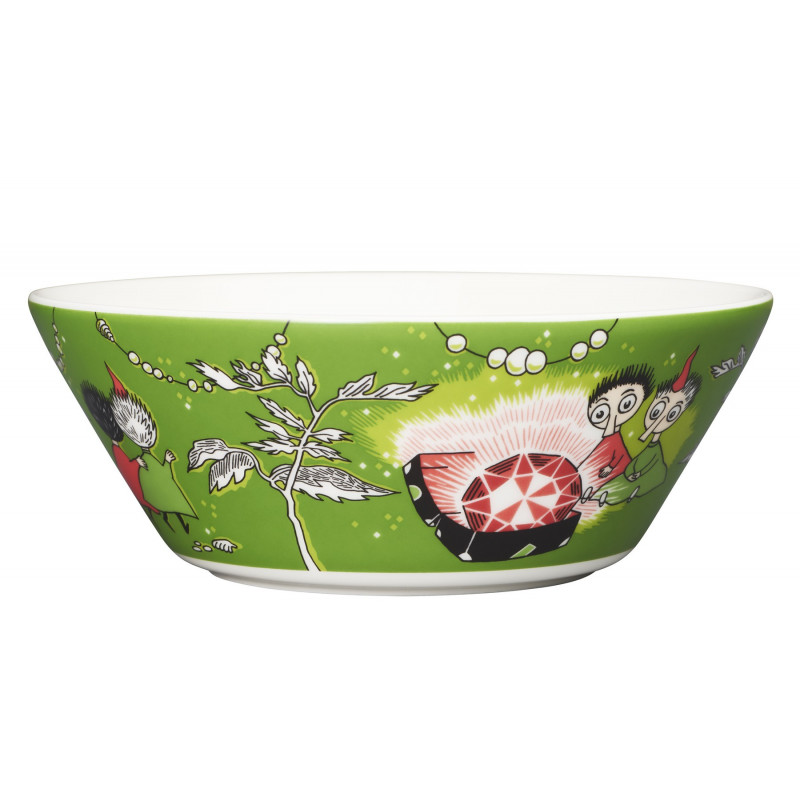 Moomin Bowl Thingumy and Bob and the King's Ruby Green 15 cm Arabia