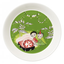 Moomin Plate Thingumy and Bob and the King's Ruby Green 17 cm Arabia 2018