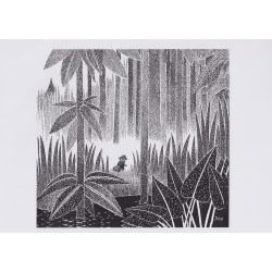 Moomin Poster Toffle Tove Jansson 24 x 30 cm