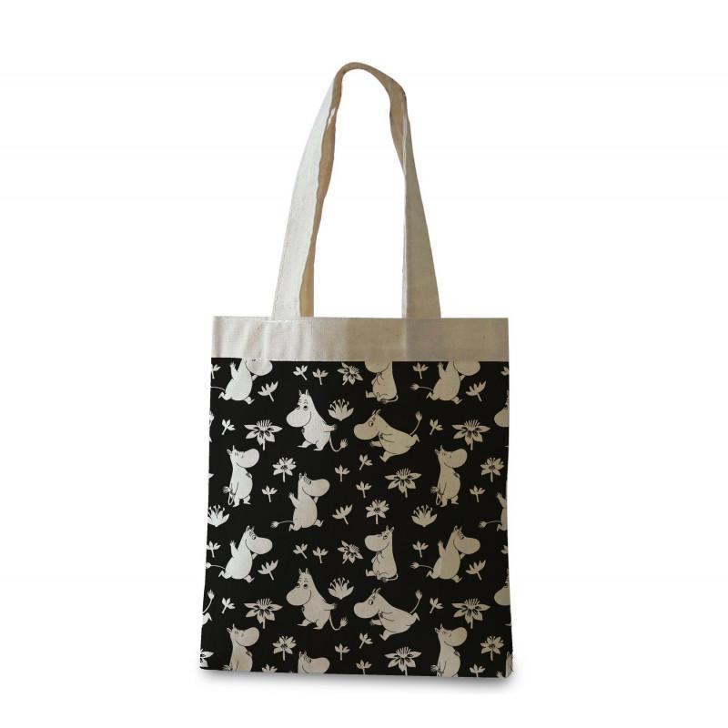 Moomin Shopping Bag Moomin Troll Black Optodesign