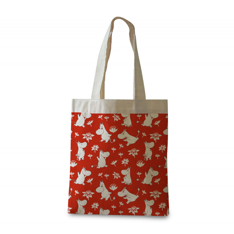 Moomin Shopping Bag Moomin Troll Red Optodesign