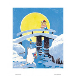 Moomin Poster Too Ticky on the Bridge Tove Jansson 24 x 30 cm