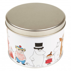Moomin Characters Tin Can Round Mamma Pappa Troll Stinky