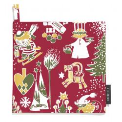 Moomin Pot Holder Christmas Red 2 pcs 22 x 22 cm