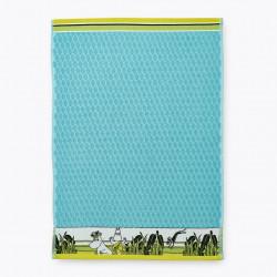 Moomin Hand Towel Tropic Moomin Turquoise 50 x 70 cm Finlayson