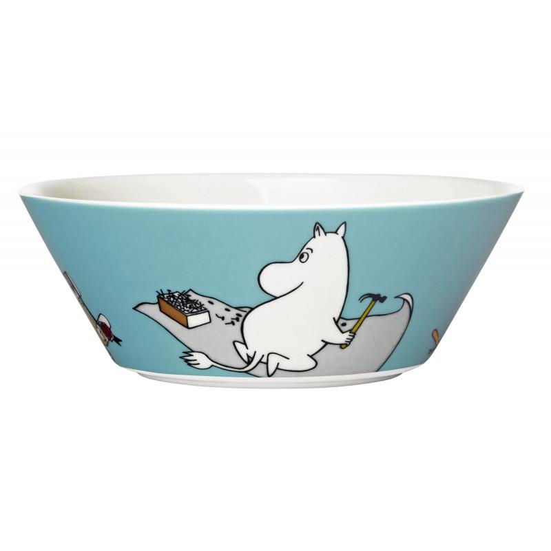Moomin Bowl Moomintroll Turquoise New 2013