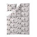 Moomin Duvet Cover Pillowcase Pink 150 x 210 cm Finlayson