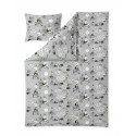 Moomin Duvet Cover Pillowcase Grey 150 x 210 cm Finlayson