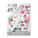 Moomin Sateen Duvet Cover Pillowcase Moominmamma Rose Garden 150 x 210 cm Finlayson