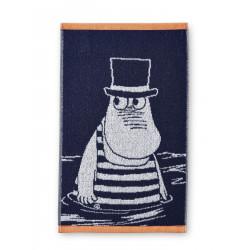 Moomin Hand Towel Moominpappa Swimming Blue 30 x 50 Finlayson
