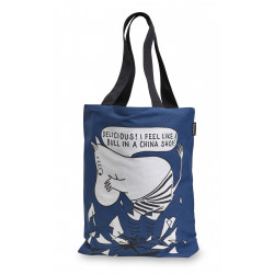 Moomin Tote Bag with Twill Linning Blue 45 x 42 cm Finlayson