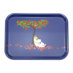 Moomin Birch Tray 20 x 27 cm Moomintroll under the Apple Tree Blue