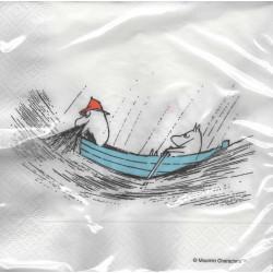 Moomin Napkins 33 cm Fishing Boat True to Its Origin