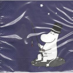 Moomin Napkins 33 cm Moominpappa Blue