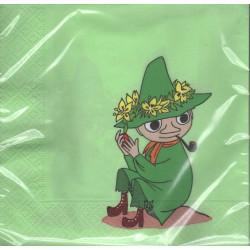 Moomin Napkins 33 cm Snufkin Green