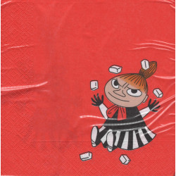 Moomin Napkins 33 cm Little My Red