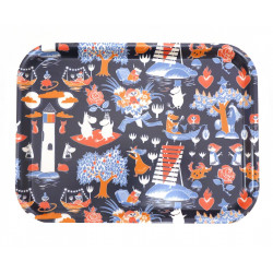 Moomin Birch Tray 20 x 27 cm Magic Moomin Blue
