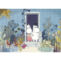 Moomin Picture Poster 24 x 30 cm Tove Jansson Moominmamma and Moominpappa
