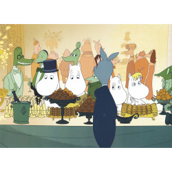 Moomin Picture Poster 24 x 30 cm Tove Jansson at the Party