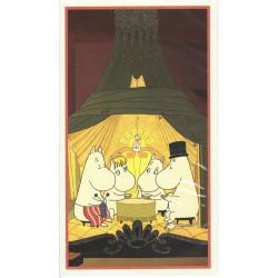 Moomin Greeting Card Riviera Moomin Family Karto
