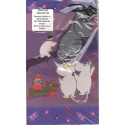 Moomin Greeting Card Family Reflector Figure Pappa Karto