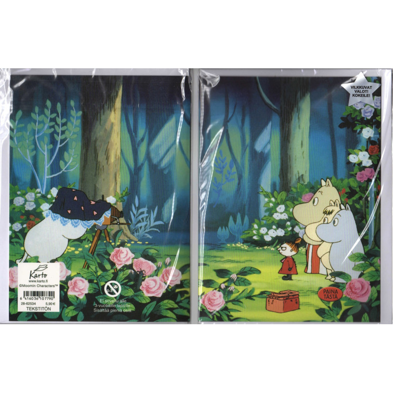 Moomin Greeting Card with Lights Family Photo