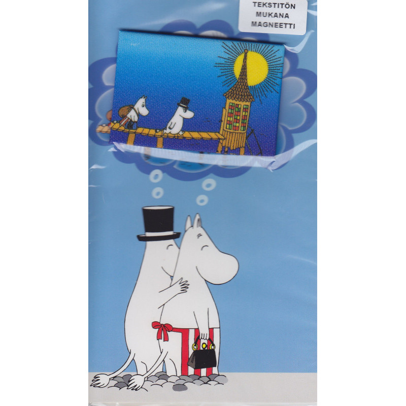 Moomin Greeting Card with Envelope and Magnet Mamma Pappa