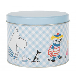 Moomin Joy Round Tin Can Blue