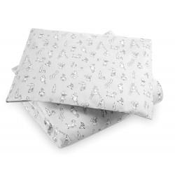 Moomin Duvet Cover Pillow Case Moomin Friends Grey 85 x 125 cm/35 x 45 cm