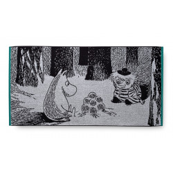 Moomin Terry Towel Moomintroll and Too-ticky 70 x 140 cm Finlayson