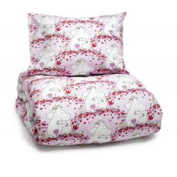 Moomin Duvet Cover Pillow Case Love Pink 120 x 160 cm/ 40 x 60 cm
