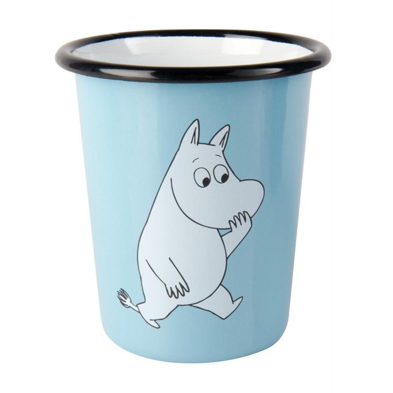 Moomin Enamel Cup Moomintroll 0.4 L Muurla