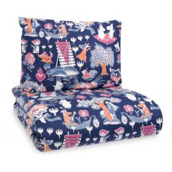 Moomin Duvet Cover Pillow Case Magic Moomin Dark Blue 120x 160 cm/40 x 60 cm